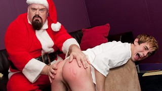 Santa Spanks a Bad Boy