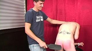 Jacob spanks Kayden