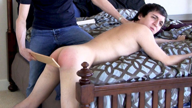 Ethan Conner gay spanking video from Spank This