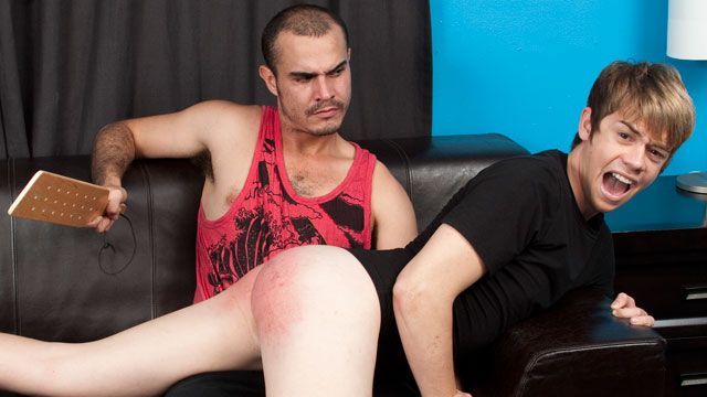 Jack Diamond gay spanking video from Spank This